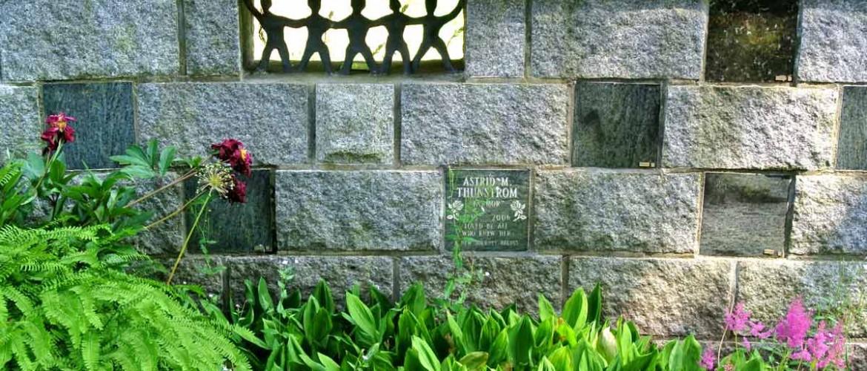 Robinson Memorial Park Niche Wall Detail