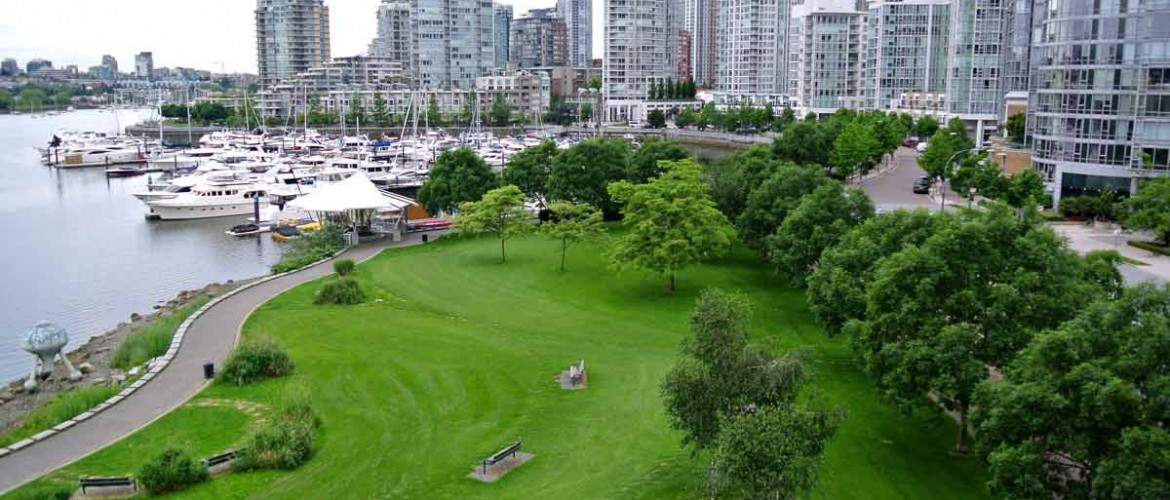 Coopers Park View West from Cambie Bridge